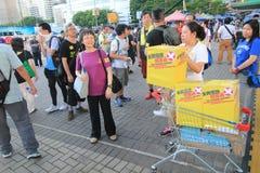 Os ativistas 2015 de Hong Kong marcham antes do voto no pacote eleitoral Fotos de Stock Royalty Free