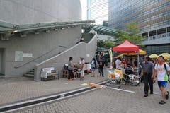 Os ativistas 2015 de Hong Kong marcham antes do voto no pacote eleitoral Imagem de Stock