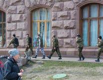 Os ativistas radicais organizaram grupos armados Fotografia de Stock