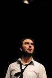 Os atores do teatro de Barcelona instituem, jogam na comédia Shakespeare para executivos fotografia de stock royalty free