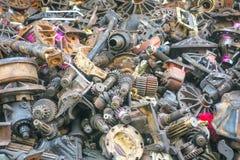 Os auto passados da segunda mão, peças sobresselentes Foto de Stock