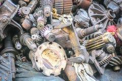 Os auto passados da segunda mão, peças sobresselentes Fotografia de Stock Royalty Free