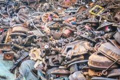 Os auto passados da segunda mão, peças sobresselentes Fotos de Stock Royalty Free