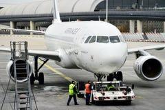 Os aviões de Air France são vistos em Charles de Gaulle International Fotos de Stock Royalty Free