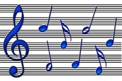 Os azuis ilustração do vetor