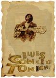 Os azuis equipam com a guitarra ilustração stock