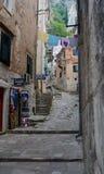 Os backstreets de Dubrovnik Fotografia de Stock