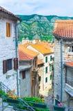 Os backstreets de Kotor Imagens de Stock Royalty Free