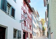 Os backstreets de Zurique imagem de stock royalty free