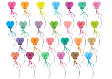 Os balões do alfabeto ajustaram o A-Z Foto de Stock