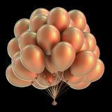 Os balões party o amarelo matte do brilho maçante dourado da decoração do aniversário Ilustração do Vetor