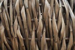 Os bambus aplainados costuraram junto fotografia de stock royalty free