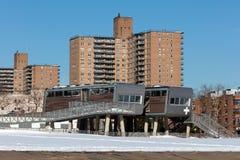 Os banheiros futuristas de Coney Island Fotografia de Stock