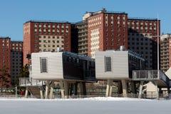 Os banheiros futuristas de Coney Island Foto de Stock
