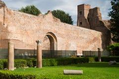 Os banhos de Diocletian em Roma Imagem de Stock Royalty Free
