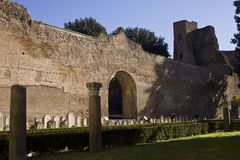 Os banhos de Diocletian em Roma Fotografia de Stock Royalty Free