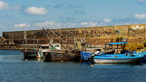 Os barcos de pesca amarraram no porto de Sozopol Imagem de Stock Royalty Free