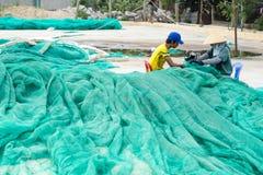 Os barcos de pesca em Vinh Hy latem, Vietname Imagens de Stock Royalty Free