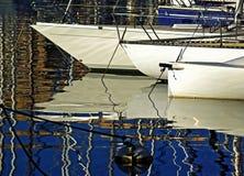 Os barcos de prazer fotografia de stock
