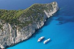 Os barcos de prazer no mar Mediterrâneo Fotografia de Stock