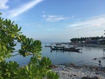 Os barcos dos peixes no mar, Koh Samui Foto de Stock