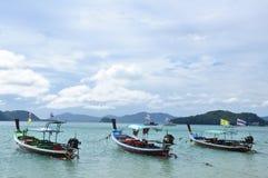 Os barcos na praia Imagem de Stock Royalty Free