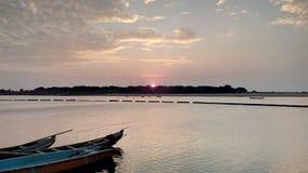 Os barcos no rio Godavari fotos de stock royalty free