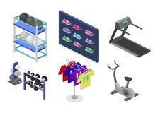 Os bens 3D lisos isométricos para os esportes compram Fotografia de Stock Royalty Free