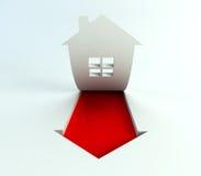 Os bens imobiliários são ascensão no preço Foto de Stock Royalty Free