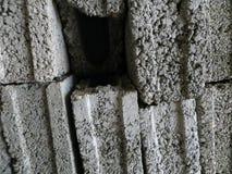 Os blocos de cimento empilham junto Imagem de Stock