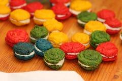 Os bolos franceses da amêndoa Fotos de Stock