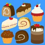 Os bolos vector o grupo Foto de Stock