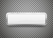 Os botões com cromo moldam isolado no fundo transparente Ilustração do vetor ilustração do vetor