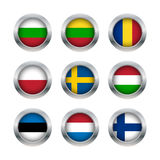 Os botões da bandeira ajustaram 3 Imagem de Stock