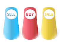 Botões grandes da loja Imagens de Stock