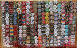 Os botões para a resistência estão em Washington Square no Lower Manhattan Imagens de Stock