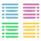 Os botões vector para o local Azul, cor-de-rosa, verde, amarelo Imagem de Stock Royalty Free