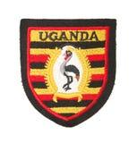 Os braços de Uganda Imagens de Stock Royalty Free