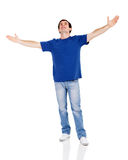 Os braços do homem abrem Fotografia de Stock