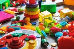 Os brinquedos das crianças da área Foto de Stock Royalty Free