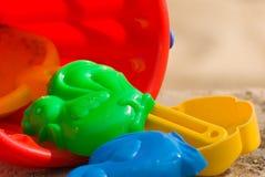 Os brinquedos das crianças fecham-se acima Fotos de Stock Royalty Free