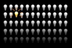 Os bulbos incandescentes foto de stock