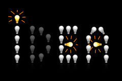 Os bulbos incandescentes fotos de stock royalty free