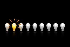 Os bulbos incandescentes imagem de stock