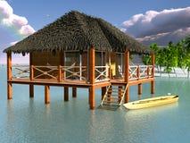 Os bungalows de madeira. Fotografia de Stock