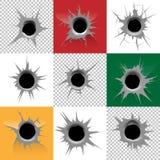 Os buracos de bala vector o grupo Foto de Stock