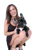 Os cães engraçados das faces fazem fotografia de stock