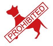 Os cães proibiram ilustração do vetor