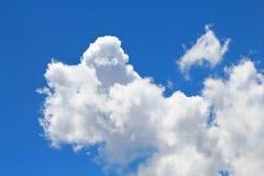 Os céus azuis e as nuvens brancas são modelados belamente Imagens de Stock