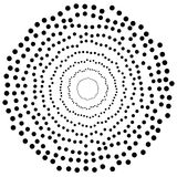 Os círculos aleatórios, pontos abstraem o elemento, forma circular Imagem de Stock Royalty Free